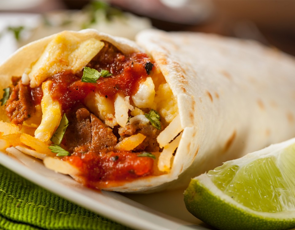 breakfast burrito taco meat